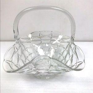 Cut Glass Fruit Basket Cottage Decor Dining Room